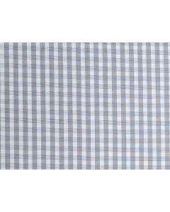 Maßhemd, kariert, grau-weiß